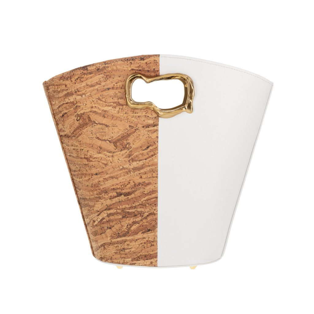 VEGAN LEATHER CASSIOPEIA CORK AND WHITE from MASHU