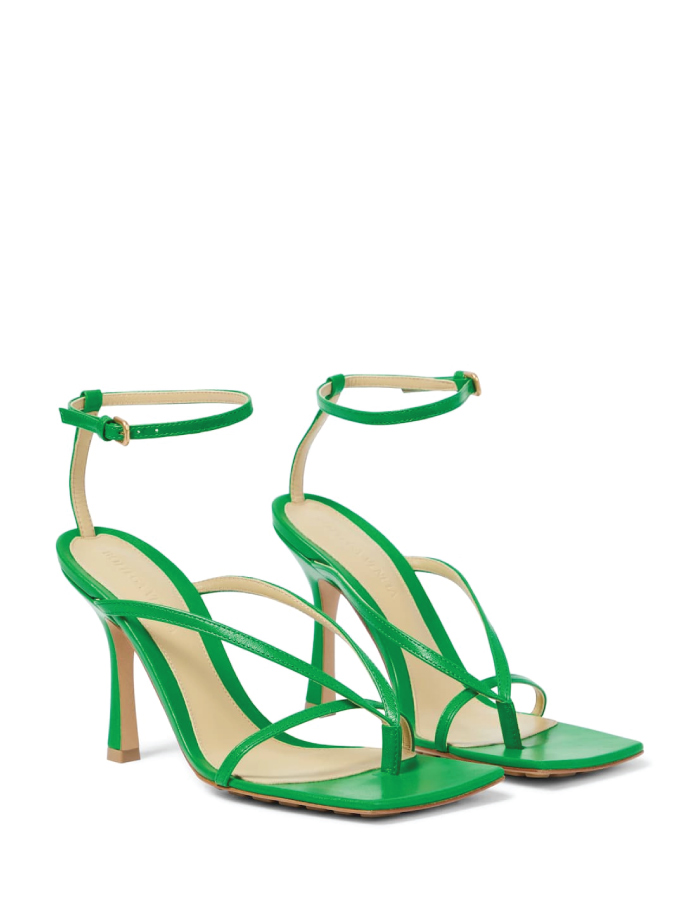 Summer Sandals To Stay Fresh And Stylish All Season: Stretch Leather Sandals by Bottega Veneta.