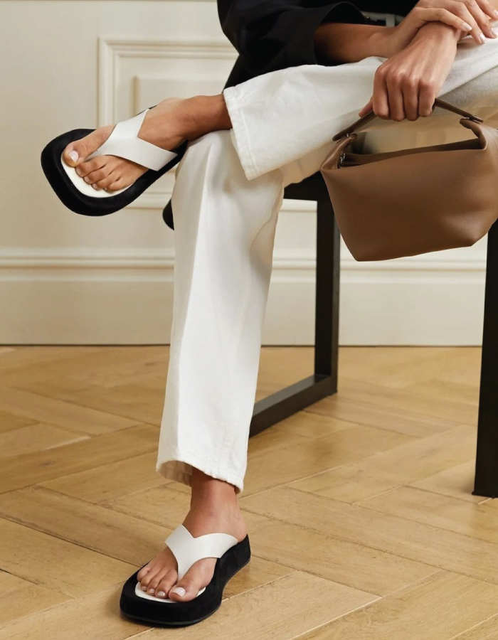 Summer Sandals To Stay Fresh And Stylish All Season: Chunky Ginza Flip-Flops by The Row.