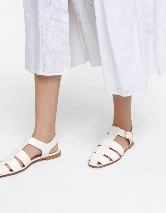 Summer Sandals To Stay Fresh And Stylish All Season: Lynn Leather Sandals by Gabriela Hearst.