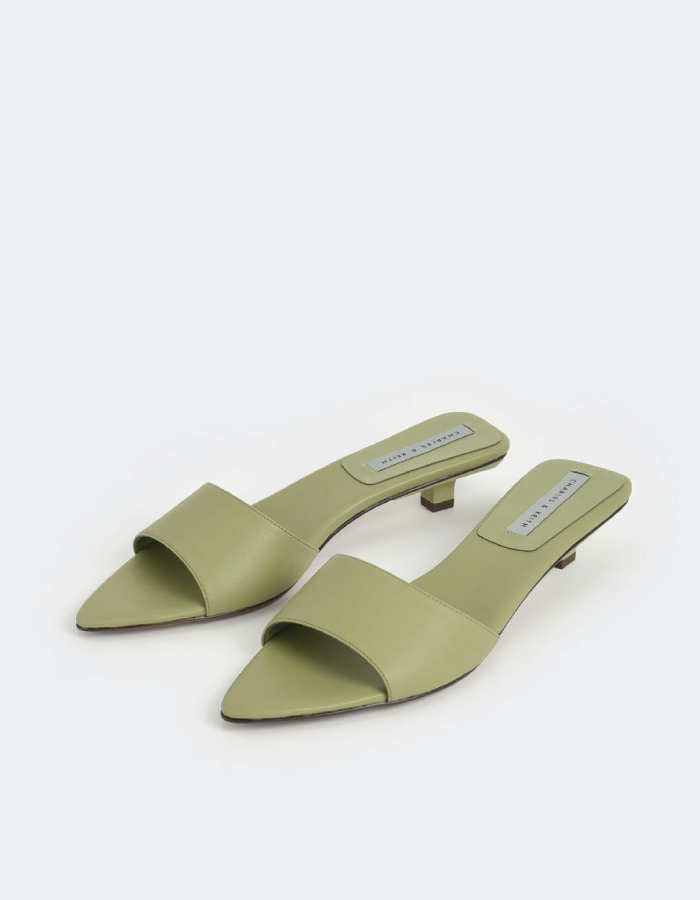 Summer Sandals To Stay Fresh And Stylish All Season: Kitten Heel Mules by Charles & Keith.