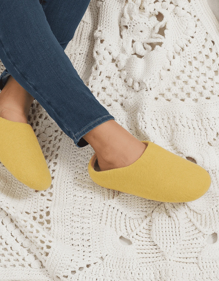 Our Top Selection To Stay In Wearing Sustainable Slippers. Slippers from Tanri.