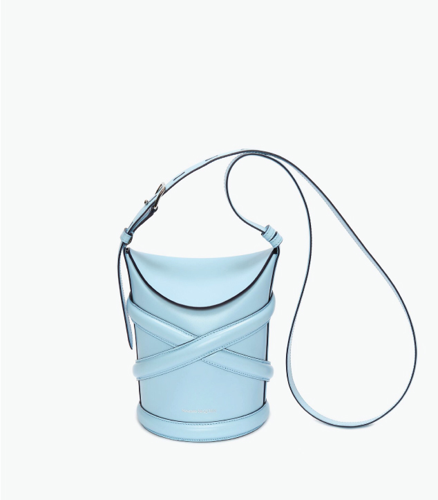 The Designer Bags Of 2021. Alexander McQueen The Curve Bag in Powder Blue