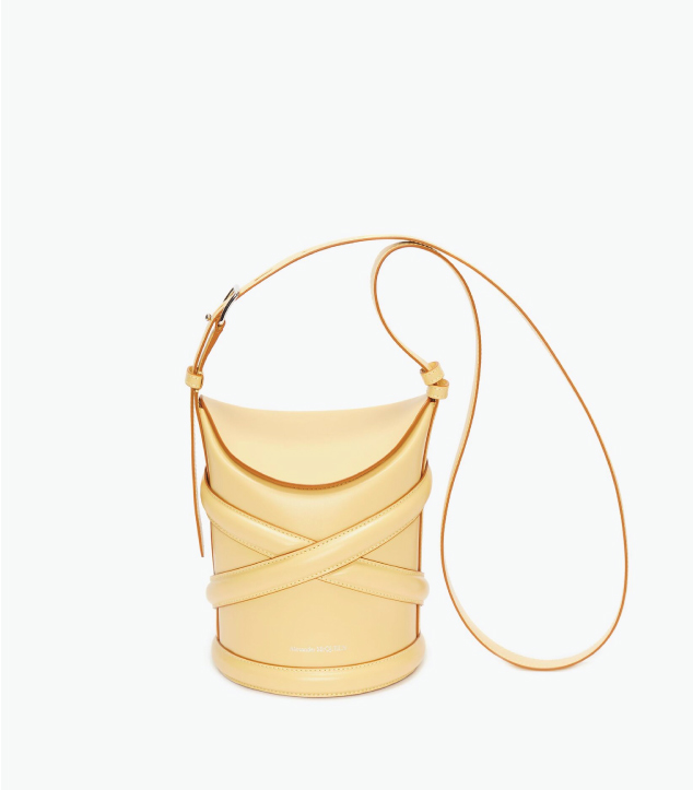 The Designer Bags Of 2021. Alexander McQueen The Curve Bag in Yellow