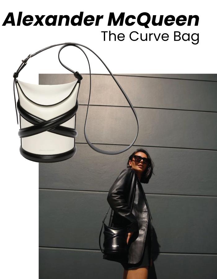 The Designer Bags Of 2021. Alexander McQueen Curve Bag