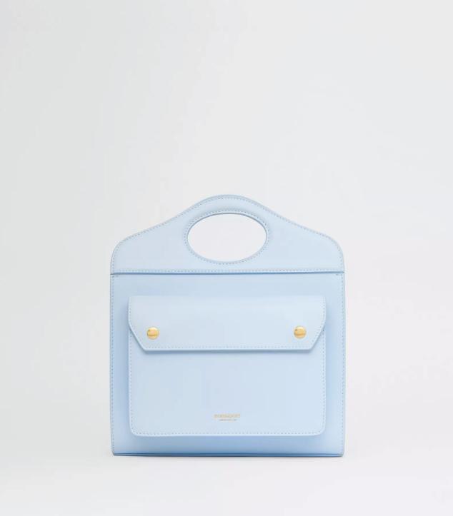 The Designer Bags Of 2021. Burberry Pocket Leather Bag Light Blue