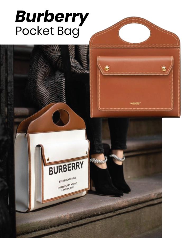 The Designer Bags Of 2021. Burberry Pocket Bag.
