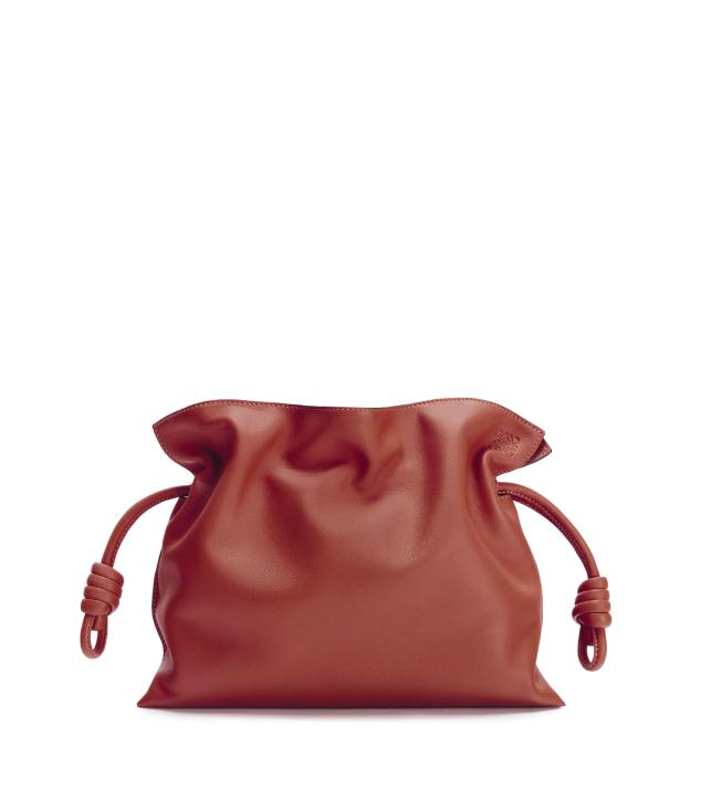 The Designer Bags Of 2021. Loewe Flamenco Clutch Dark Rust