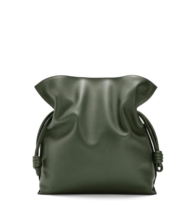 The Designer Bags Of 2021. Loewe Large Flamenco Bag Vintage Khaki