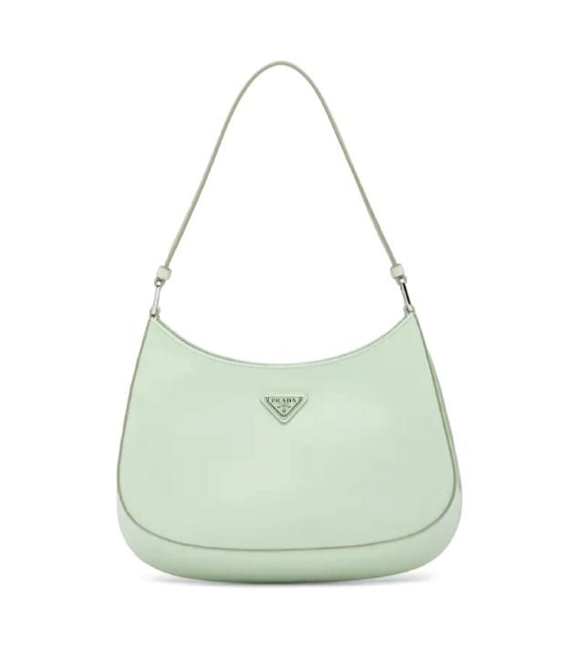 The Designer Bags Of 2021. Prada Cleo Brushed Leather Shoulder Bag Aqua