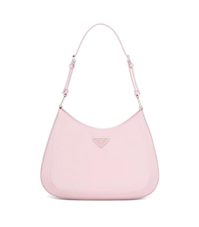 The Designer Bags Of 2021. Prada Cleo Brushed Leather Shoulder Bag Pink