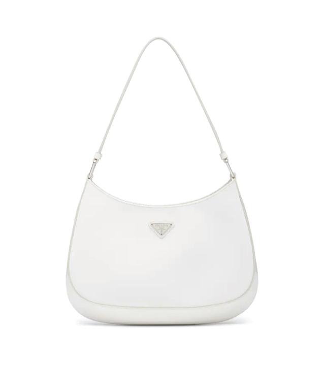 The Designer Bags Of 2021. Prada Cleo Brushed Leather Shoulder Bag White