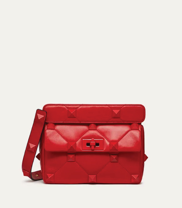 The Designer Bags Of 2021. Valentino Medium Roman Stud Shoulder Bag Tonal Stones