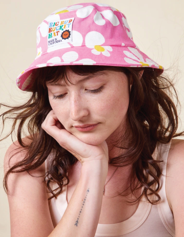 Bucket Hats You Will Want To Wear All Summer. Colorful hat from sustainable brand Big Bud Press.