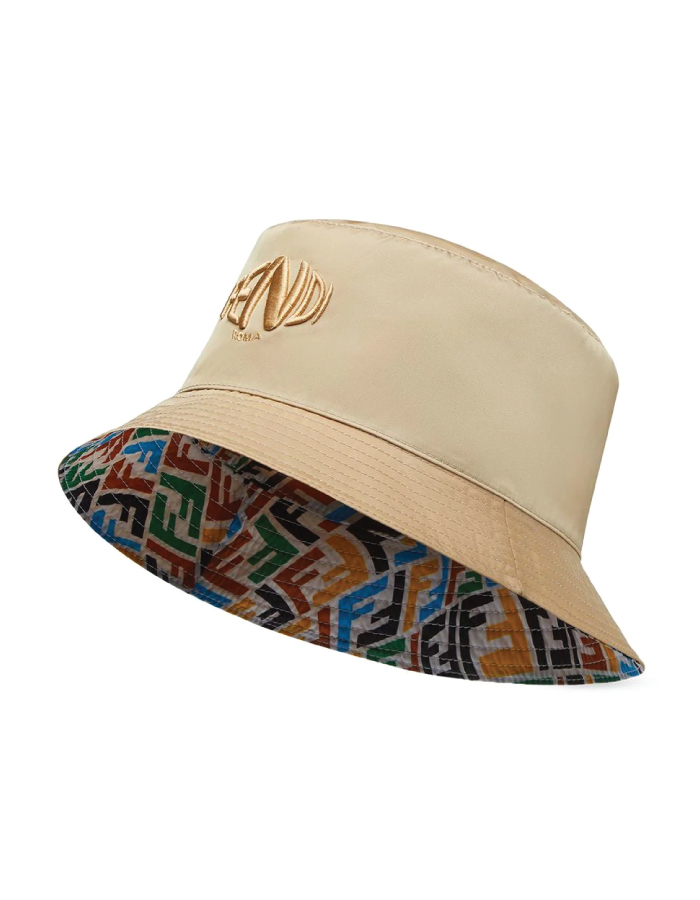Bucket Hats You Will Want To Wear All Summer. Reversible fish-eye hat from Fendi.