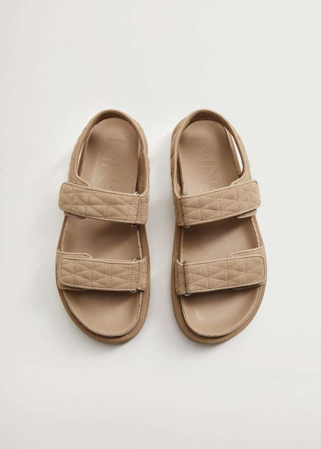 PADDED STRAP SANDALS from MANGO