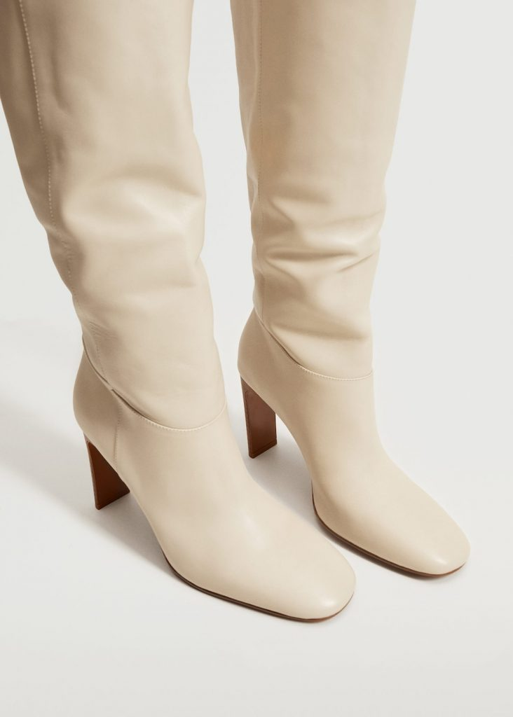 HIGH LEATHER BOOT from MANGO