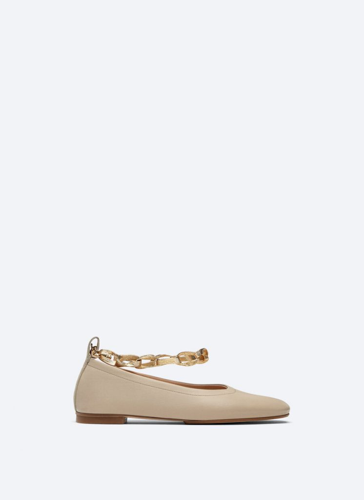 SOFT SKIN BALLET FLATS WITH BRACELET from UTERQUE