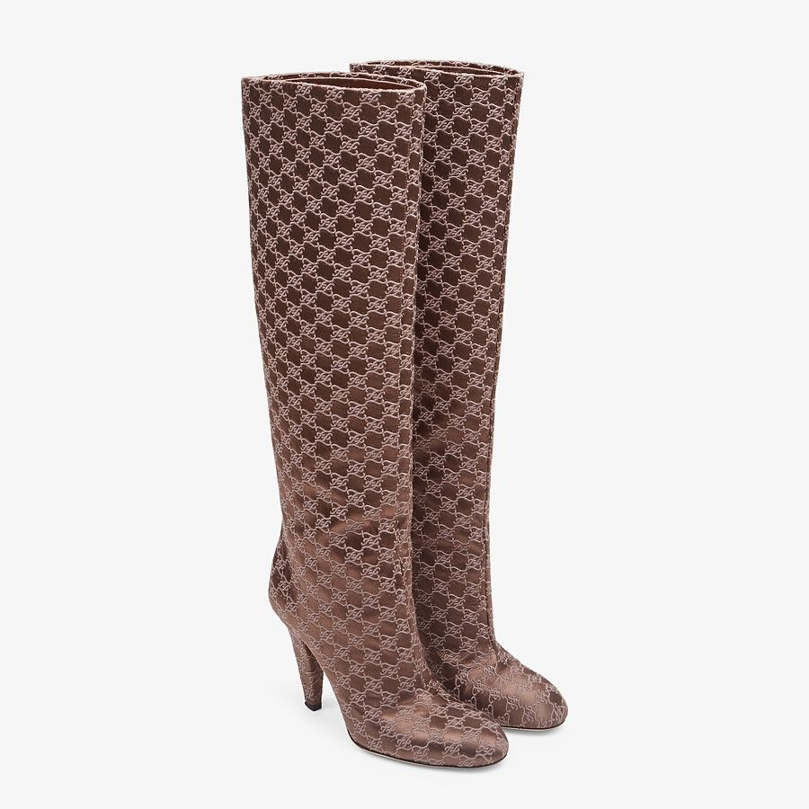 HIGH-HEELED BOOTS IN BROWN  from FENDI