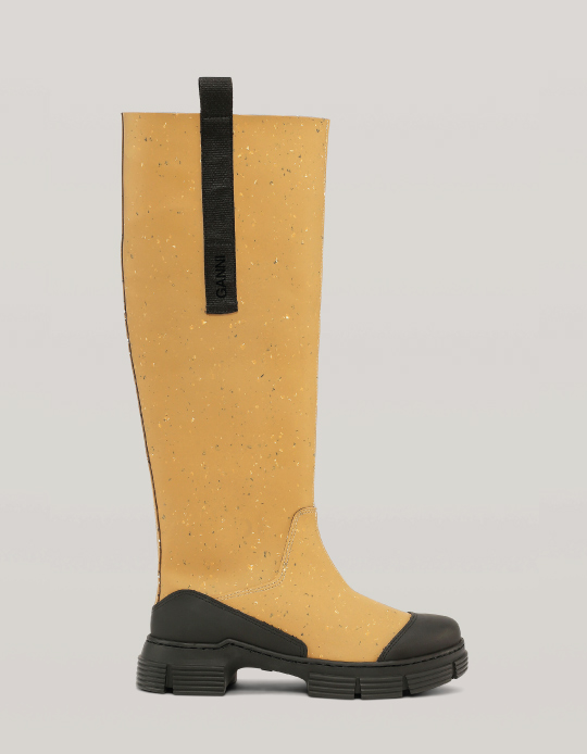 Autumn Boot Trends We Are Trying This Year: Ganni, recycled rubber country boots.