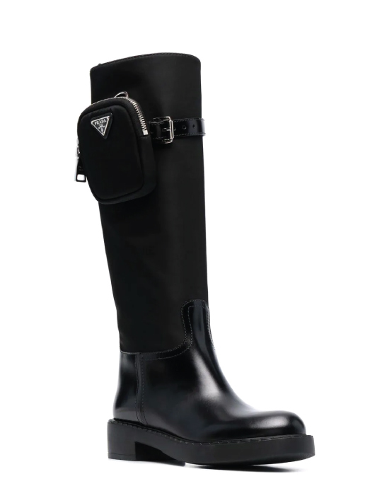 Autumn Boot Trends We Are Trying This Year: Prada, re-nylon riding boots.