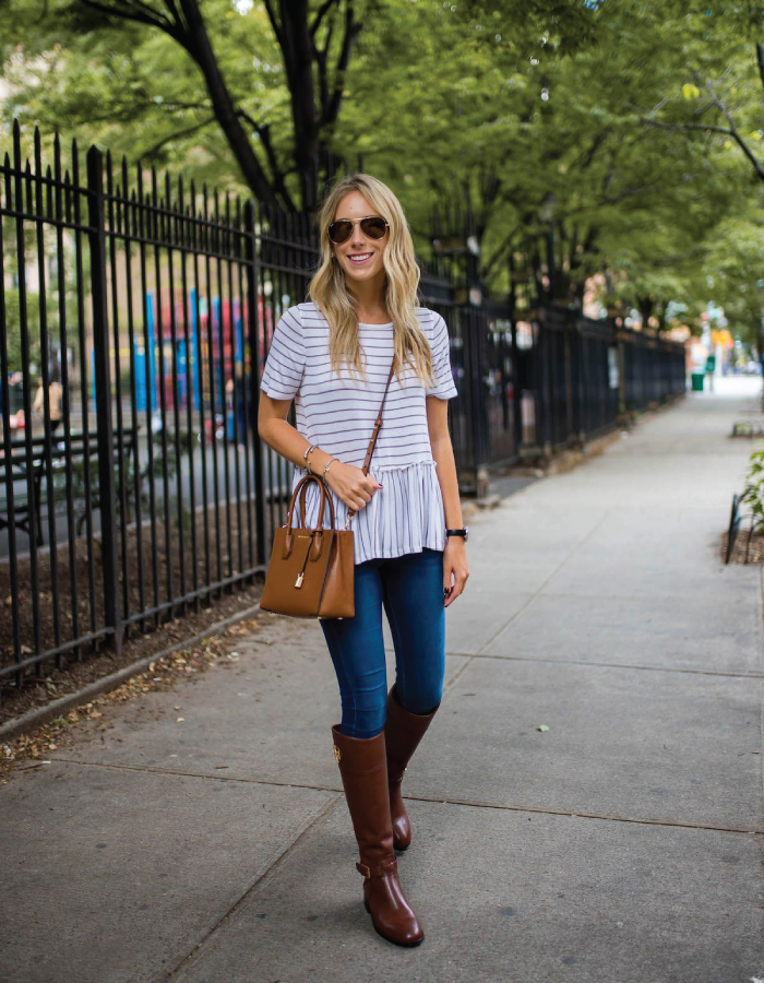 Autumn Boot Trends We Are Trying This Year: riding boots in brown.