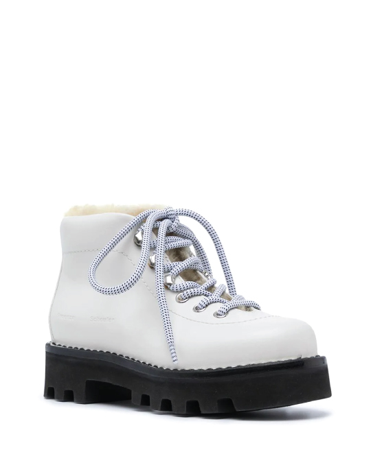Autumn Boot Trends We Are Trying This Year: Proenza Schouler, shearling hiking boots.