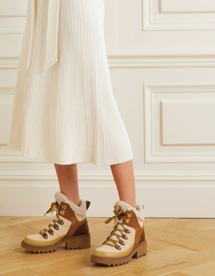 Autumn Boot Trends We Are Trying This Year: shearling boots.