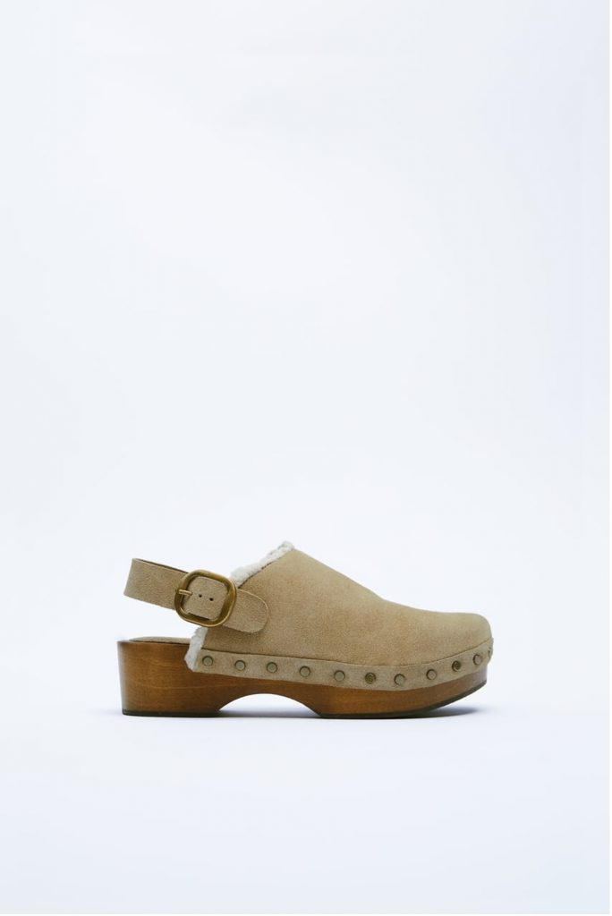 CLOGS IN CROUTE from ZARA