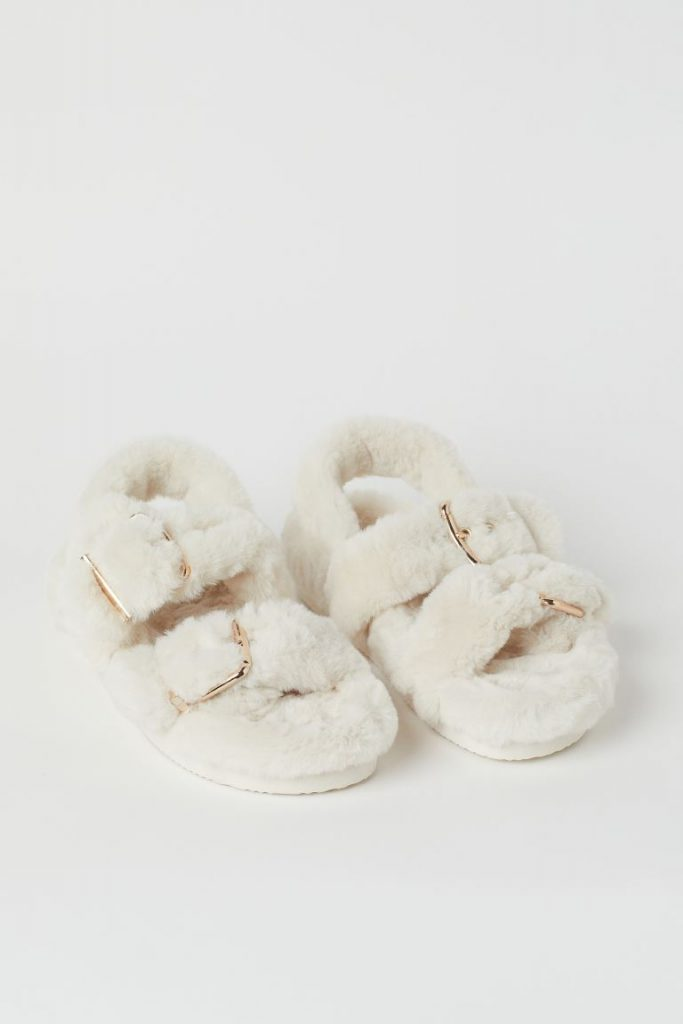 SYTHETIC FUR SANDALS  from H&M
