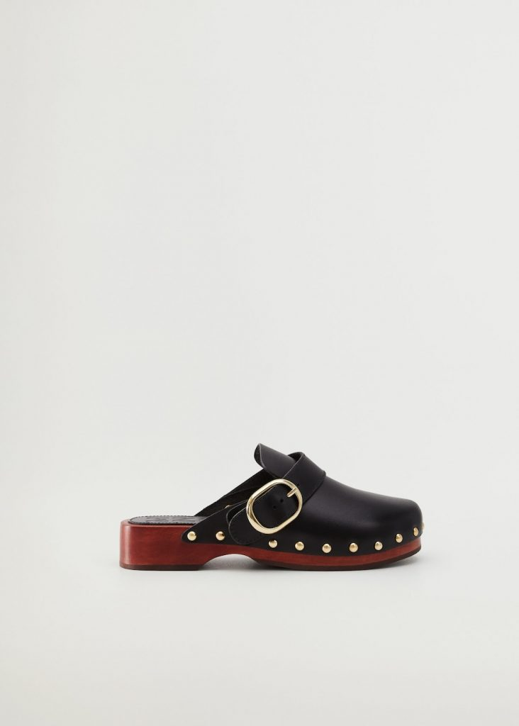 LEATHER SHOES WITH TACKS  from MANGO