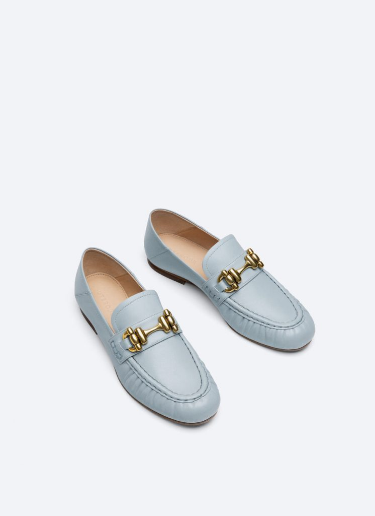 LEATHER BLUE LOAFERS  from UTERQUE